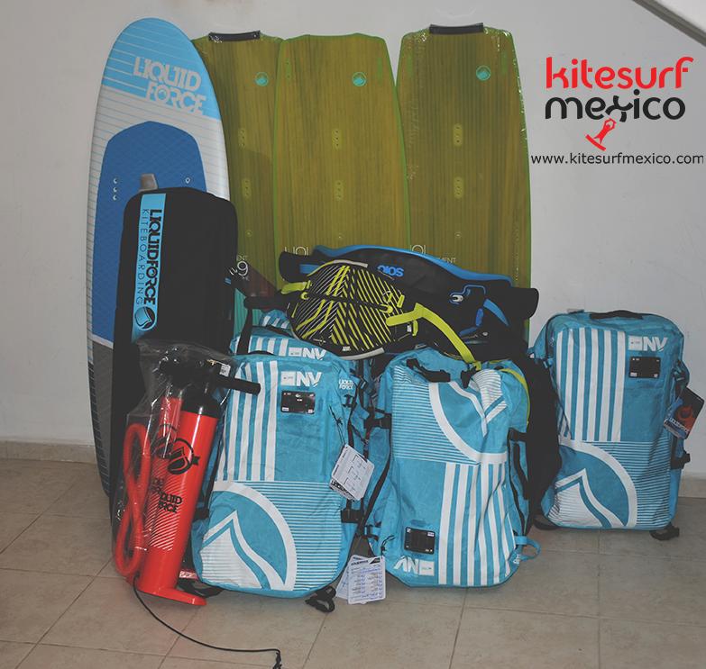 Aprender Kiteboarding Mexico - Nuevo Equipo