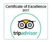 Recommended on TripAdvisor as Excellent for 2017